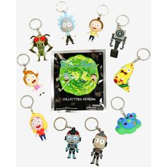 Rick And Morty Blind Bag Key Ring ($5.52) ❤ liked on Polyvore featuring accessories