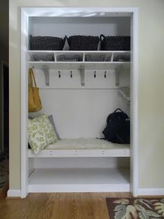 The Diligent One: Coat closet to mini-mudroom: phase II