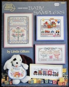 Cross stitch Baby Samplers book no. 3605 by Linda Gillum pb