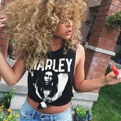 Curly blonde tresses