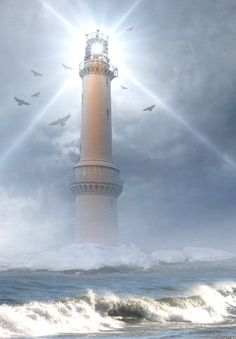 #Lighthouse in Winter Night http://www.roanokemyhomesweethome.com