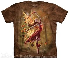 Autumn Fairy Adults T-Shirt by Anne Stokes : The Mountain - 2017 Collection : T-Shirtsauce Australia: The Mountain T-Shirts
