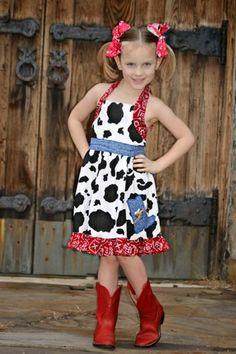 Girls Boutique Western, Country Halter Dress, Pageants, Birthdays