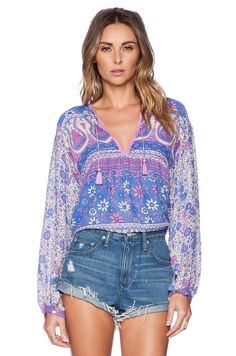 Spell & The Gypsy Collective Boho Blossom Blouse in Purple