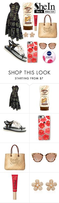 """Untitled #11178"" by ohnadine ❤ liked on Polyvore featuring Hawaiian Tropic, Melissa, Casetify, White Stuff, Nivea, Too Faced Cosmetics and Colette Jewelry"