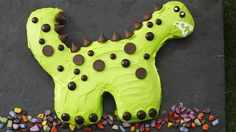 How To Make A Dinosaur Birthday Cake with Betty Crocker Dinosaur