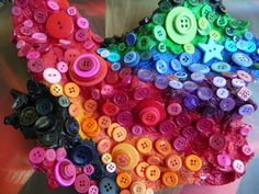 Some interesting art has been made using buttons. Ran Hwang creates beautiful wall installations with them.