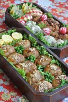 韓国風☺甘辛肉巻きおにぎり 冷めても柔らかいメキシカンポークを使った韓国風の甘辛い肉巻きおにぎり♪運動会や行楽のお弁当にどうぞヽ(´▽`)