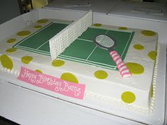 tennis court sheet cake | Flickr - Photo Sharing!