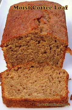 Moist Coffee Loaf Cake - Great as a loaf or round cake, this is great tasting!