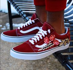 60958d6d6d70 Shop Men s Vans Red size Various Sneakers at a discounted price at  Poshmark. Description  Brand new and Authentic Custom Vans. One of a kind  design.