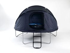 8ft trampoline tent. Super idea to turn trampoline into a playhouse!!