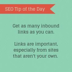SEO Tip of the Day
