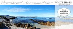 Franskraal Accommodation offers quality self-catering houses with sea views near Gansbaai - Great White Shark Diving Capital & Marine Big 5 Great White Shark Diving, Shark Cage, Villas, South Africa, Catering, Sea, Places, Water, Gripe Water