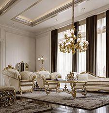 Mobili per la zona giorno classica e di lusso in stile veneziano e ...