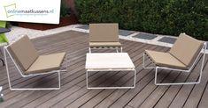 Projecten - Onlinemaatkussens.nl Outdoor Chairs, Outdoor Furniture, Outdoor Decor, Sun Lounger, Home Decor, Chaise Longue, Decoration Home, Room Decor, Garden Chairs