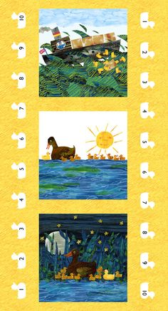 That's Just Ducky Panel, 10 Little Rubber Ducks by Eric Carle for Andover Fabrics ~ SALE