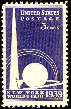 U.S. stamp honoring the 1939 New York World's Fair.