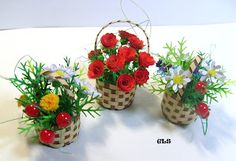 Quilled Baskets of Flowers - by: CLS