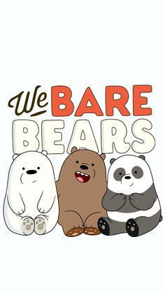 We bare bears, illustration, cute, art