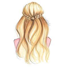 """Hair inspo #hairstyle #hairillustration #fashionsketch #fashionillustration #fashionillustrator #boston #bostonblogger #bostonillustrator #copic…"""