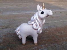 Unicorn: Handmade miniature polymer clay animal by AnimalitoClay