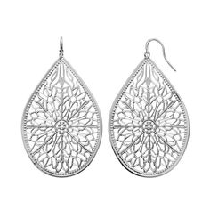 Jennifer Lopez Filigree Teardrop Earrings, Women's, multicolor