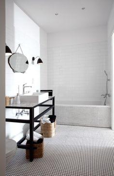 Квартира в стиле этнический минимализм. Ванная комната