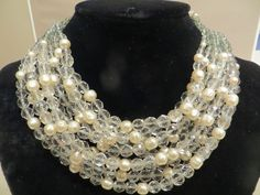 Coppola e Toppo signed 9 strand chocker/necklace  crystal beads & faux pearls | Jewelry & Watches, Vintage & Antique Jewelry, Costume | eBay!