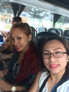 riding the tour bus