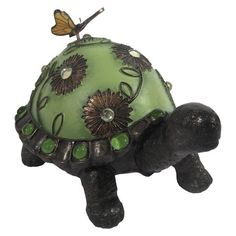 Jeweled Walking Turtle Statuary