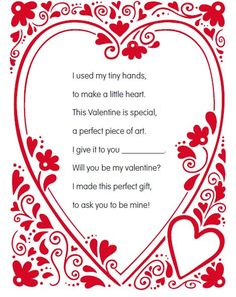 valentine poems for kindergarten teachers