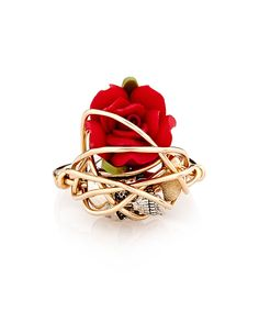 Fethee gold & red ring by Kat&Bee on secretsales.com