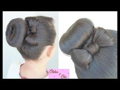 Donut Bun Bow!! | Updo Hairstyles | Cute Girly Hairstyles - YouTube