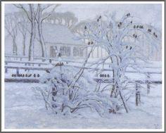 William Degouve de Nuncques (1867-1935), Oiseaux en Hiver.
