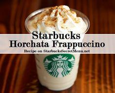 Starbucks Secret Menu Horchata Frappuccino! Recipe here: http://starbuckssecretmenu.net/starbucks-secret-menu-horchata-frappuccino/