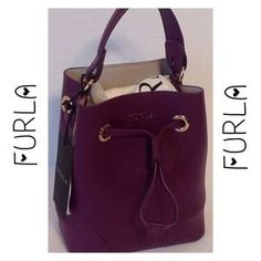 """I just discovered this while shopping on Poshmark: HP FURLA Stacy Aubergine Bag. Check it out! Price: $178 Size: 7"""" Height"""