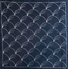 Japanese sashiko fabric - Nowaki (grass) panel number 201. $10.00, via Etsy.