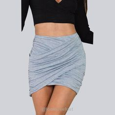 Stretch Mini Bandage Wrap Skirt - - Skirts, Look Love Lust