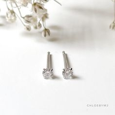 Excited to share this item from my #etsy shop: Dainty 2.5mm Crystal stud earrings Sterling silver, dot stud earrings, Tragus stud, cartilage stud, tiny 2mm CZ silver earrings Bar Stud Earrings, Dainty Earrings, Dainty Jewelry, Sterling Silver Earrings Studs, Bead Earrings, Cartilage Stud, Jewelry Polishing Cloth, Silver Bars, Etsy Shop