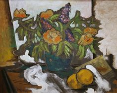 Still Life ... Peonies by Georges Braque