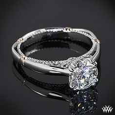 Verragio Split Claw 4 Prong Solitaire Engagement Ring with a 1.620ct A CUT ABOVE