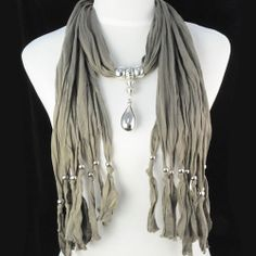 scarf necklaces ,NL-1221G|Scarf|Wholesale Necklaces|