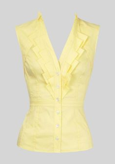 Parse cut blouses sleeveless
