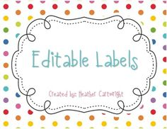 Editable Labels {FREEBIE} Perfect for notebook covers and folders. Classroom Labels, Classroom Organisation, Classroom Decor, Notebook Labels, Notebook Covers, Binder Covers, Printable Labels, Free Printables, Cubby Labels