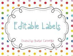 Editable Labels {FREEBIE}