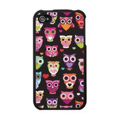 Cute retro owl pattern illustrated iphone case