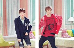 LTE Suho and Lay (gif)...If your new that's Lay on the right, He Kills it on the dance floor! Don't let this fool you:)