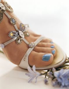 wedding pedicure, something blue!