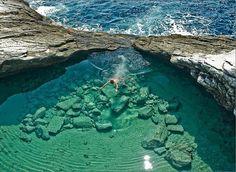 Turquoise Pool, Giola Lagoon, Greece... Beautiful!